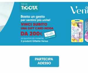VINCI CON GILLETTE VENUS IN TIGOTA'