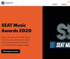 Accendi la musica e partecipa ai SEAT Music Awards 2020