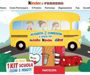 VINCI 1 KIT SCUOLA LIMITED EDITION FERRERO OGNI 5 MINUTI