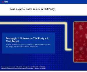 FESTEGGIA IL NATALE CON TIM PARTY E LO CHEF TOMEI