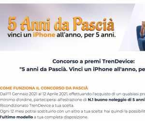 5 anni da Pascià: vinci un iPhone all'anno, per 5 anni