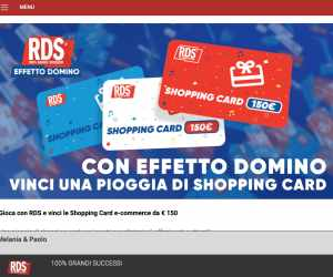 EFFETTO DOMINO SHOPPING CARD
