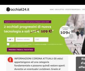Controllo della Vista Omaggio e Sconto 70% su Occhiali Progressivi - Occhiali24.it