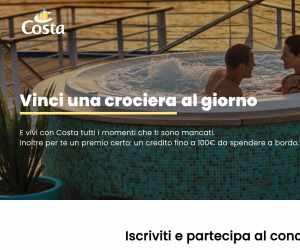 Vinci e parti con Costa