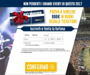 THE WINNER IS - BUONI ACQUISTO TICKETONE DA 900 EURO