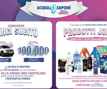 Concorso a Premi Acqua & Sapone VINCI SUBITO - Premi e Concorsi