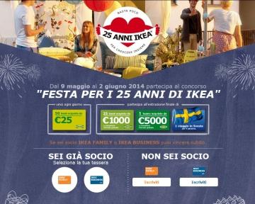 Festa Per I 25 Anni Di Ikea Ikea Italia Retail Srl Vincere