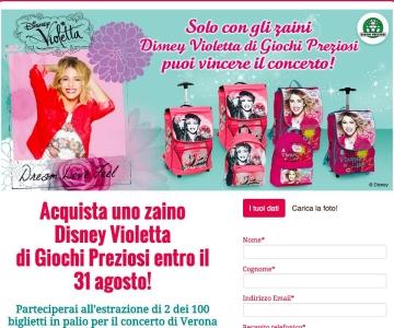 e131ddc56f VIOLETTA SCUOLA 2015 - Zaini Violetta collezione 2015-2016 - Giochi ...