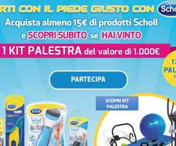 Scholl - Reckitt Benckiser Healthcare (Italia) S.p.A.. Tutti coloro che nel  periodo dall 8 gennaio al 31 marzo 2019 ... c56deefbb366