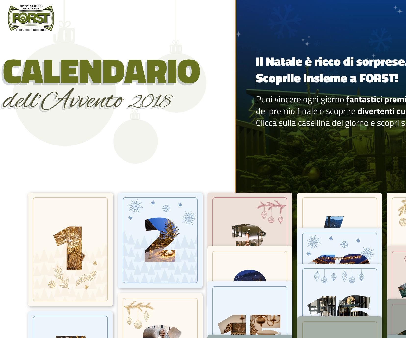Calendario Avvento Birra.Concorso A Premi Calendario Dell Avvento Di Birra Forst