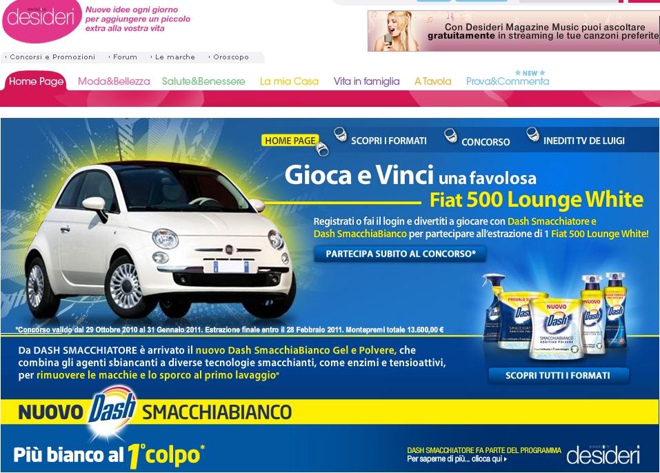Con Dash Vinci Un Automobile Desideri Magazine E Dash Procter Gamble Vincere Prodotti Vincere Auto E Moto