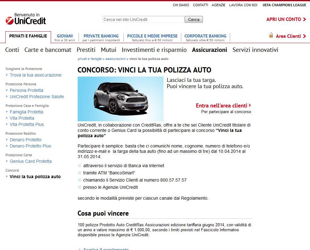 Vinci La Tua Polizza Auto Creditras Assicurazioni Spa E