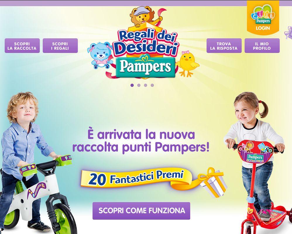 Raccolta Punti Pampers Regali Dei Desideri Pampers Fater Spa Vincere Prodotti Vincere Giocattoli E Giochi