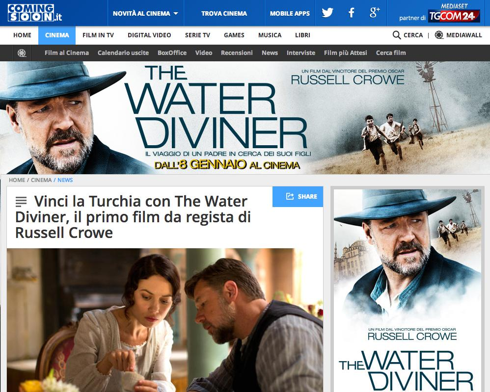 Coming Soon Calendario Uscite.Vinci Con The Water Diviner E Coming Soon The Water