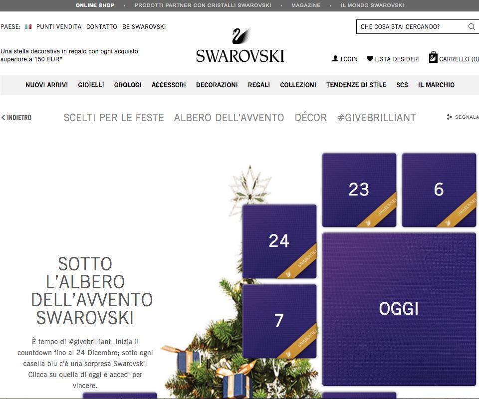 Calendario Avvento Swarovski.Concorso Swarovski Calendario Dell Avvento Premi E Concorsi